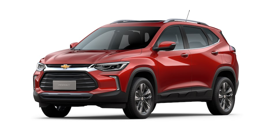 Chevrolet Tracker 2021 color rojo flama